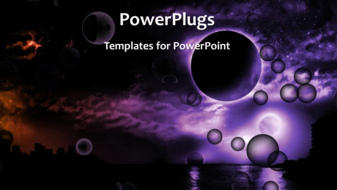 PowerPoint Template - Abstract world background